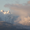 Breathtaking snow-capped Lions mountians overlook Vancouver