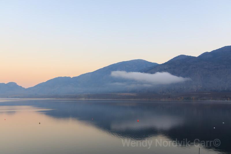 Sunset reflection on Osoyoos Lake