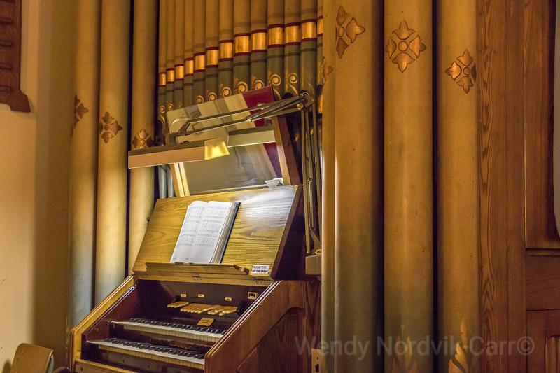 Pipe organ in Saint George Church - oldest building in Sydney, Nova Scotia