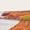 Stunning drive by the scenic red cliff seascape of Cavendish on PEI