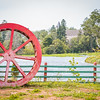 Historic water mill and covered bridge Hunter River, PEI