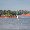 PEI scenic Red Sands Shore drive to Fort Amherst National Historic site and Blockhouse Point Lighthouse