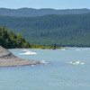 Mendenhall Glacier calves small icebergs . Top things to do Crusing to Alaska Ports of Call Shore Excursions