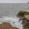 Rugged sandstone cliffs on California's Pacific coast