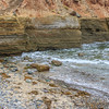 Eroding sandstone cliffs on the  stunning southern California coastline