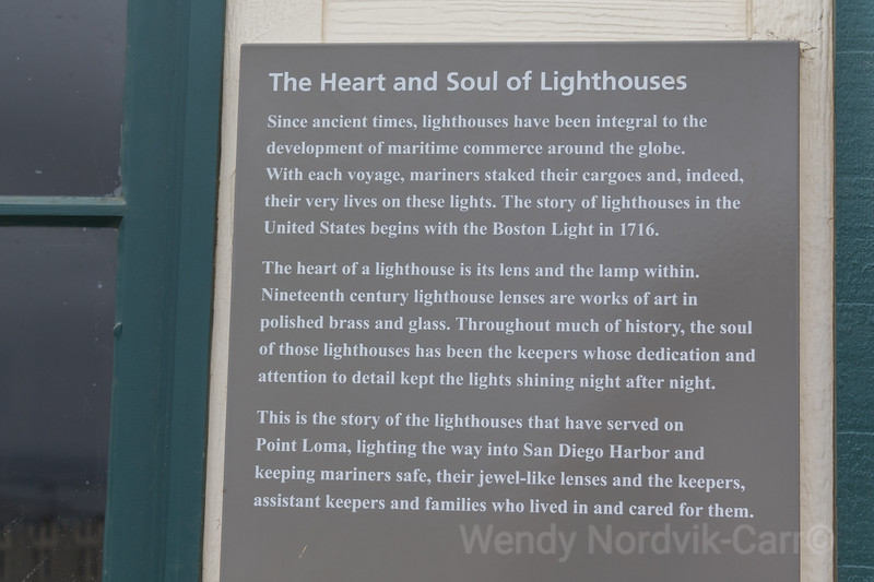 Historic Point Loma Lighthouse informational sign, Cabrillo National Monument