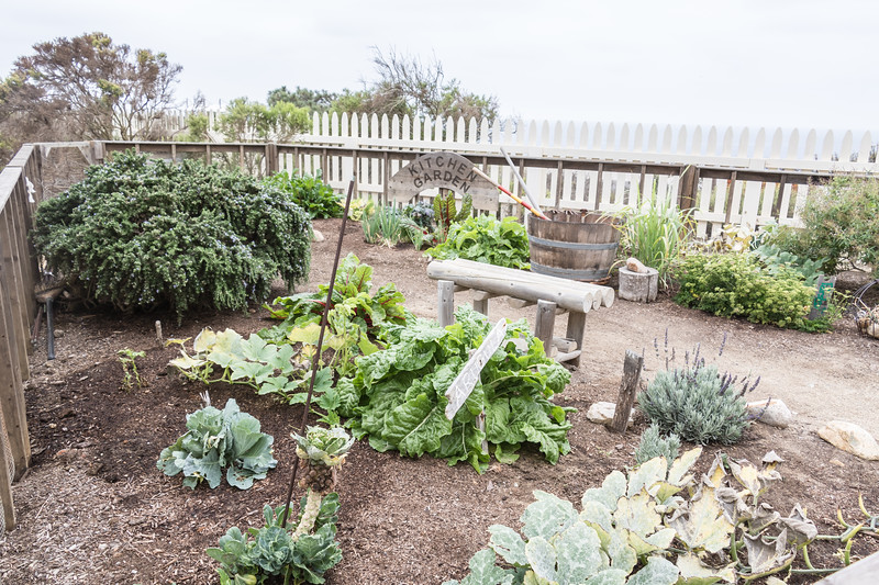 Kitchen garden outside historic Point Loma Lighthouse, Cabrillo National Monument