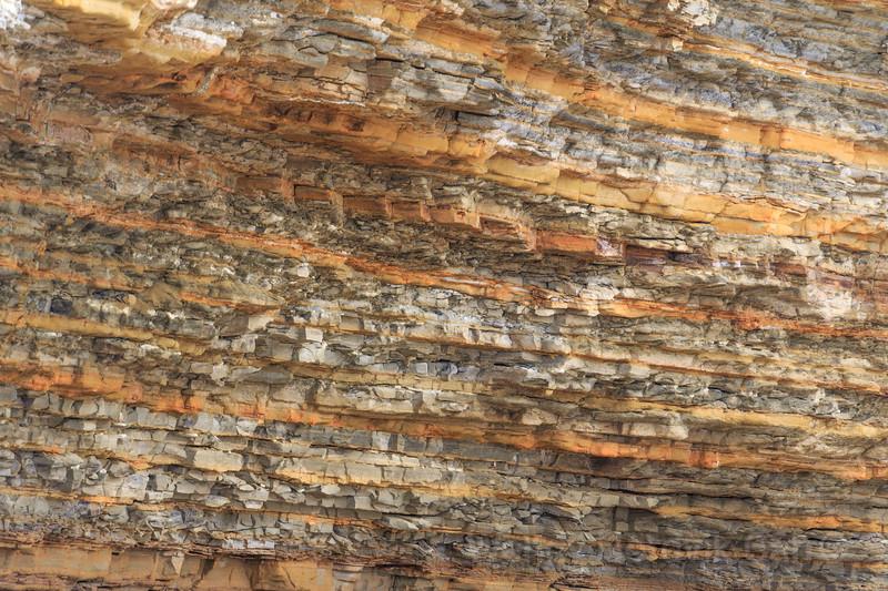 Eroding sandstone cliffs on the  stunning southern California coastline