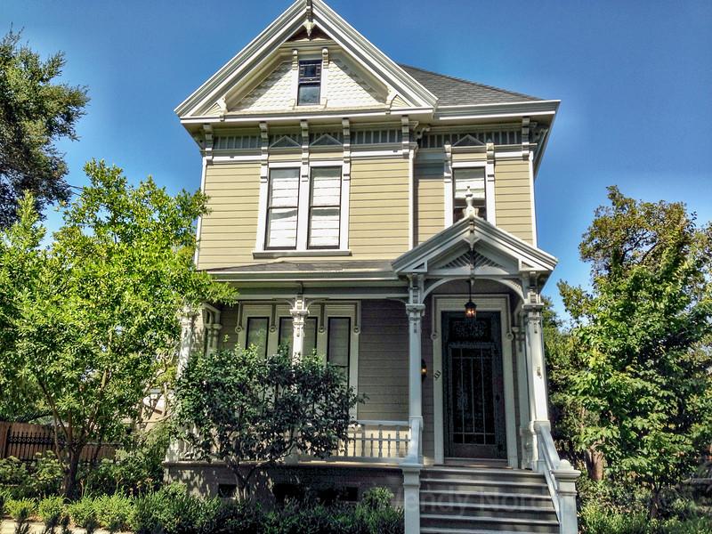 Unique, beautiful historic homes of Napa Valley, California.
