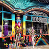 Colorful psychedelic shops in San Francisco's Haight-Ashbury district