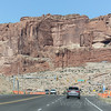 Entrance to arches National Park - Utah's most scenic route from Moab to Bryce Canyon