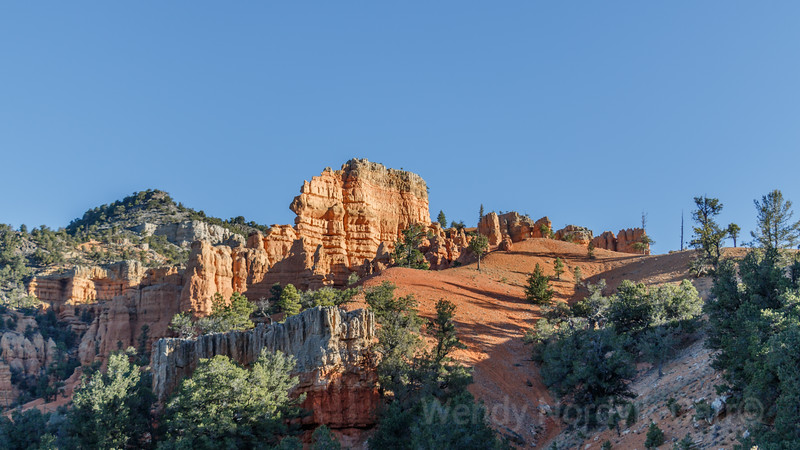 Discover Red Canyon on the road from Zion National Park to Bryce Canyon