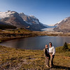 """Icefields Parkway<br /> Just couldn't resist a """"we were at the Columbia Icefield"""" photo op."""
