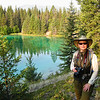 """Valley of the Five Lakes Hike<br /> An """"Erin at Fifth Lake"""" photo op."""