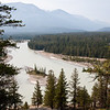 Old Fort Point Hike<br /> A glimpse of the Athabasca River through the trees.