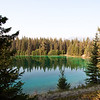 Valley of the Five Lakes Hike<br /> With the sun shining, the color of the lake becomes apparent.