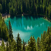 Lake Agnes Trail, Lake Louise, Banff National Park: Here's a view of Mirror Lake; amazing color and so different from Lake Louise.