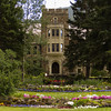 Cascade Gardens, Banff Townsite: Canada Place, the Banff National Park Administration Building.