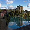At Lake Louise with Chateau Lake Louise as the backdrop for another vacation photo.