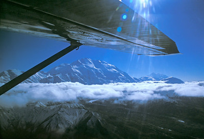 first view of Denali from plane
