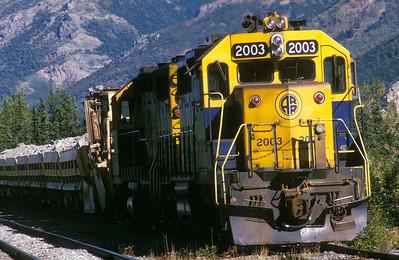 Alaskan Railroad locomotive