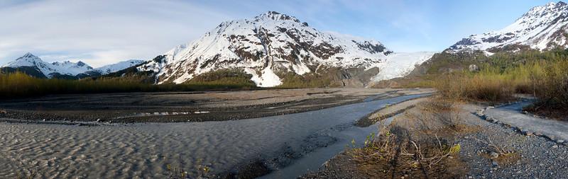 Outflow from Exit Glacier near Seward Alaska