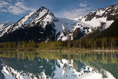 Perhaps 'majestic' is the only word that really applies to these reflected mountains off Portage Glacier road