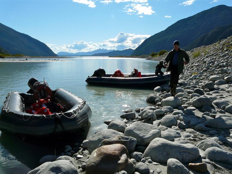 Arriving at Baird Glacier