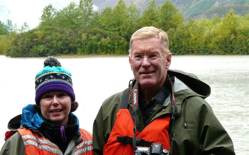 Donna and Alan Hull on Davidson Glacier excursion in Skagway, Alaska