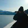 Alan Hull photographing Hubbard Glacier