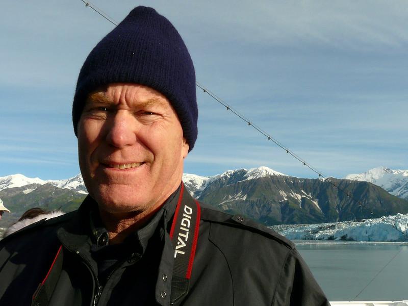 Alan Hull at Hubbard Glacier