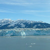 Blue sky view of Hubbard Glacier