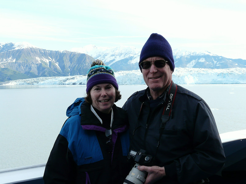 Alan and Donna Hull at Hubbard Glacier