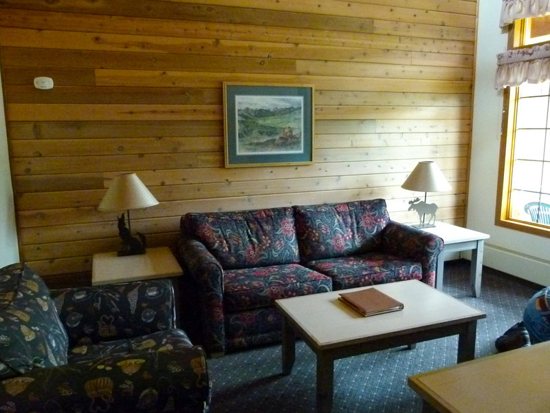 Bungalow living room at Kenai Princess Wilderness Lodge