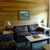 Cabin living room at Princess Wilderness Lodge