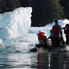 Photographing icebergs at LeConte Glacier in Southeast Alaska