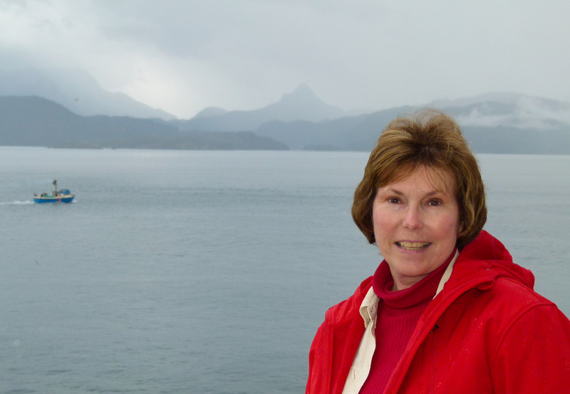 Donna's ready to ride on the Alaska Marine Highway
