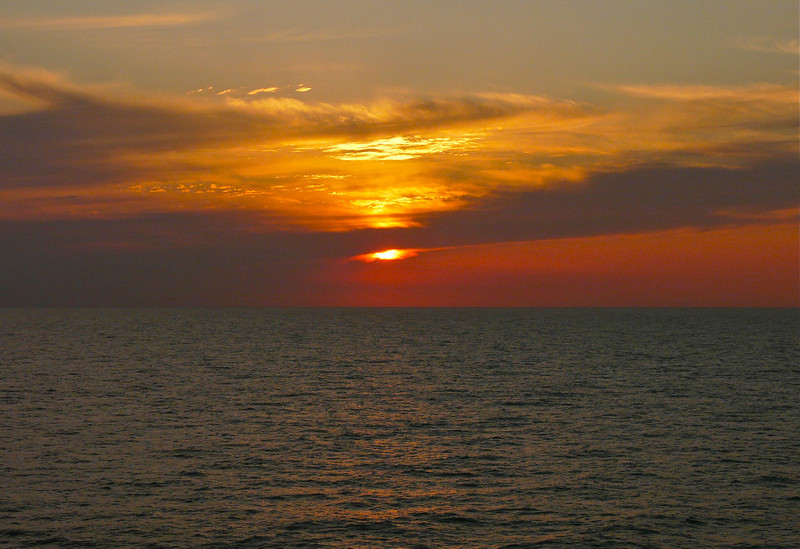 North Pacific sunset