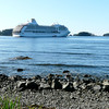 Regent Seven Seas Mariner anchored at Sitka, Alaska