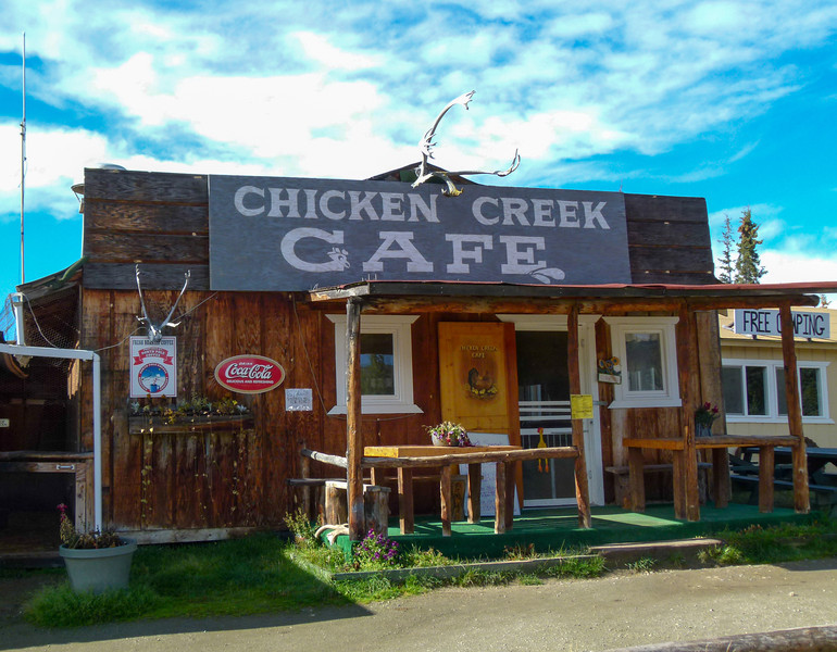 Another shot of Chicken Creek Cafe in Chicken, Alaska