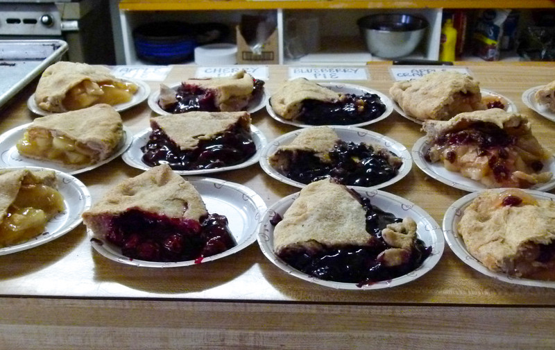 Lots of pie at Chicken Creek Cafe in Chicken, Alaska