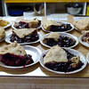Lots of pie at Chicken Creek Cafe in Chicken, Alaska