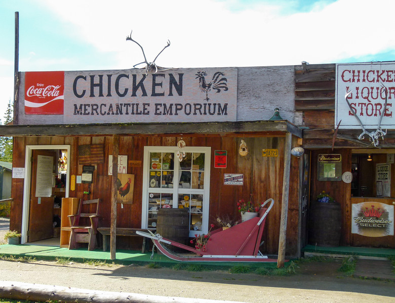 The mercantile in beautiful downtown Chicken, Alaska