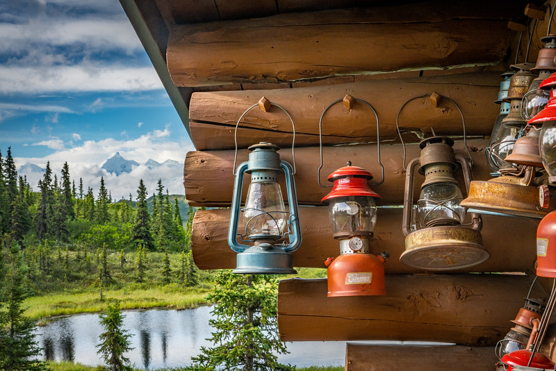 Lanterns in Camp Denali
