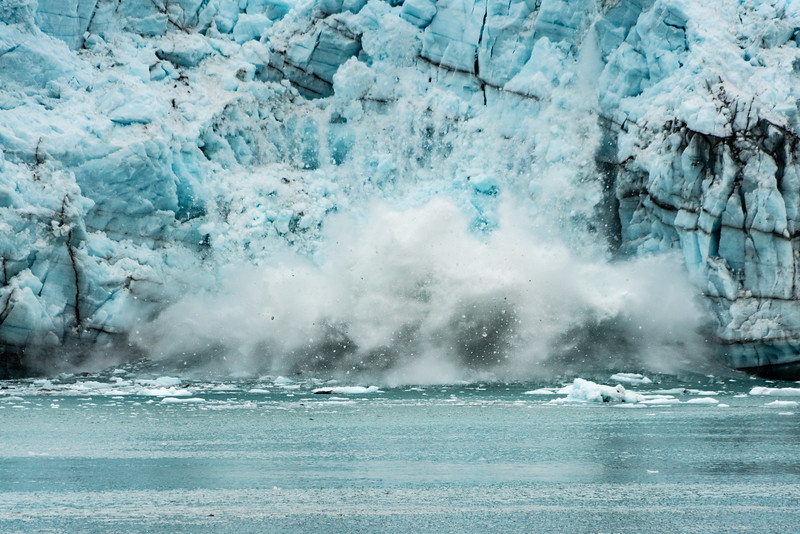 Iceberg calving in Glacier Bay National Park