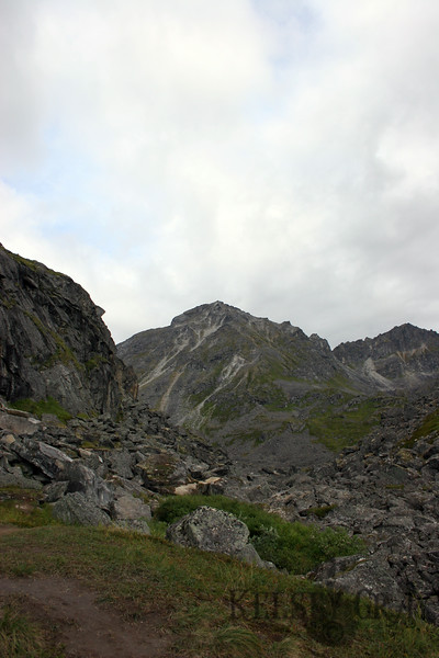 I threw my overly heavy pack back on and started packing my way out. This is the peak which I climbed.