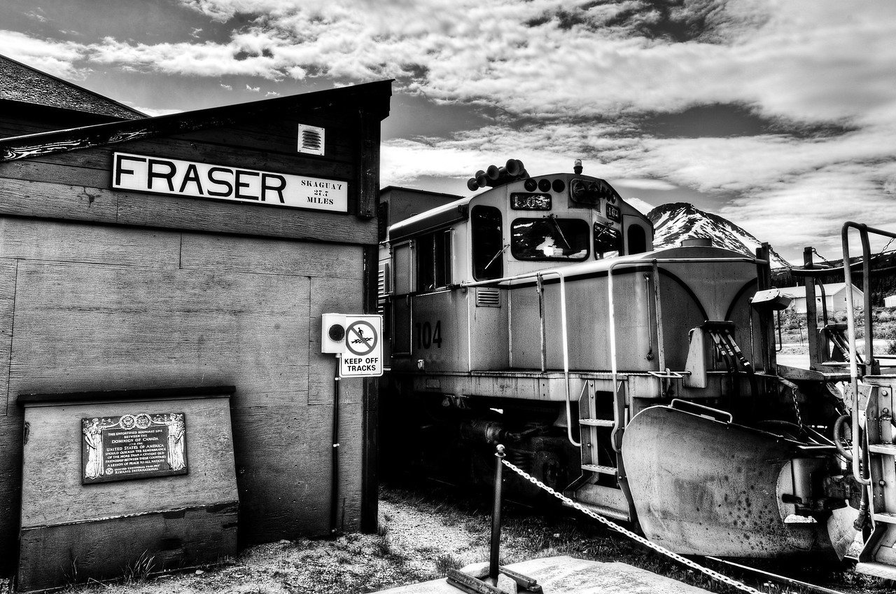 Fraser White Pass Train Station to Skagway, Alaska