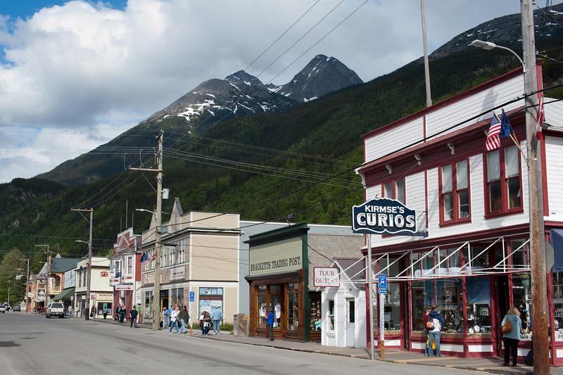 Street scene in Skagway, Alaska