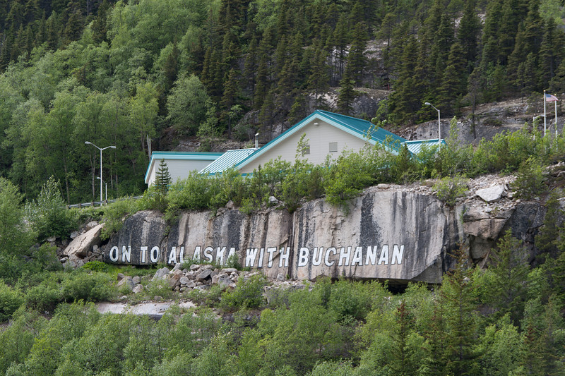 View along the White Pass railroad route in Skagway, Alaska
