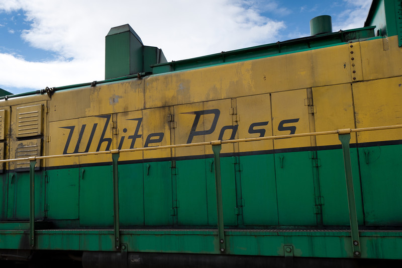 The White Pass Train in the station - Skagway, Alaska